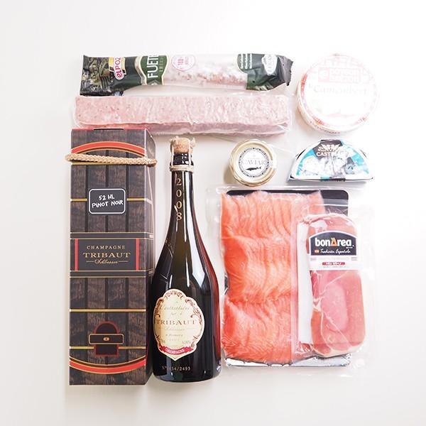 シャンパン&贅沢おつまみセット 「プラチナ」 冷蔵便