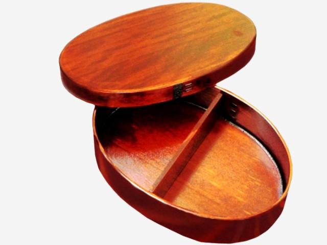 【国産品/国産ひのき製・漆塗】ひのきのお弁当箱【大サイズ】 ◆木工職人の手作り 安心商品◆