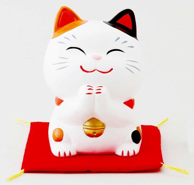 806eeea6b6 幸せお願い猫 中 みけ(貯金箱)  江戸の昔より、招き猫はお金や人を招いてくれる縁起物として親しまれてきました。ささやかな願いごとに応えてくれる招き猫いいこと ...