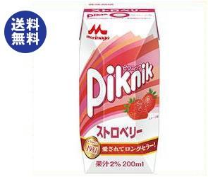 【送料無料】 森永乳業 ピクニック ストロベリー (プリズマ容器) 200ml紙パック×24本入