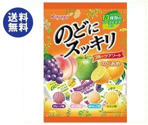 【送料無料2ケースセット】 春日井製菓 のどにスッキリ フルーツアソート 118g×12袋入×(2ケース)