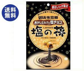 【送料無料2ケースセット】 UHA味覚糖 塩の花 焦がしミルクと塩チョコ 80g×6袋入×(2ケース)