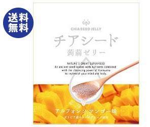 【送料無料2ケースセット】チアシード蒟蒻ゼリー アルフォンソマンゴー味 10個×12袋入×(2ケース)