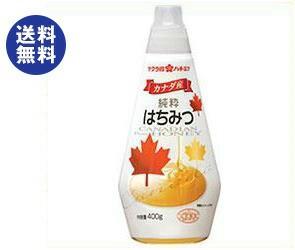 【送料無料】 加藤美蜂園本舗 サクラ印 カナダ産純粋はちみつ 400g×12本入