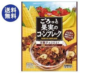 【送料無料2ケースセット】日清シスコ ごろっと果実のコーンフレーク 芳醇チョコ仕立て 200g×6袋入×(2ケース)