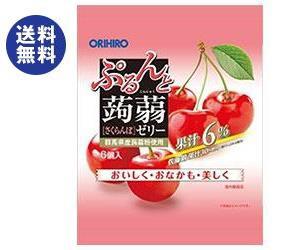 【送料無料2ケースセット】オリヒロ ぷるんと蒟蒻ゼリー さくらんぼ 20gパウチ×6個×24袋入×(2ケース)