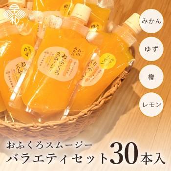 スムージー 有田みかん ゆず レモン 橙 だいだい ゼリー おふくろスムージーバラエティセット30本入 送料無料 シャーベットにも
