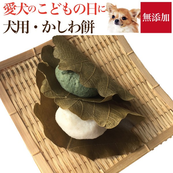 【早割】犬用 かしわ餅 子供の日 (無添加・天然)犬の手作りご飯