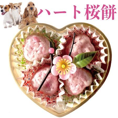 犬用 無添加 ハート型・桜餅(さくら餅・ひな祭り)無添加 犬用ケーキ【クール便】