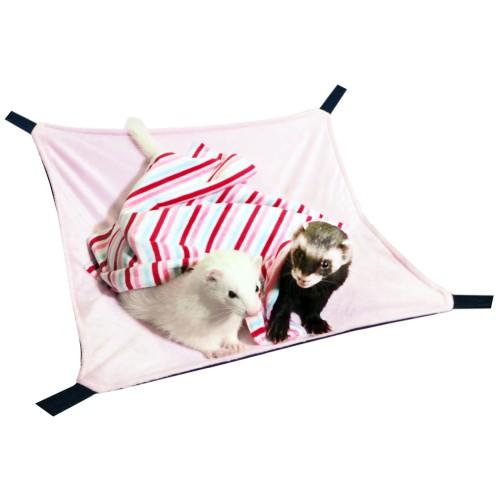 もぐりっこハンモック:ピンク / フェレット ハンモック 冬用 大きいサイズ