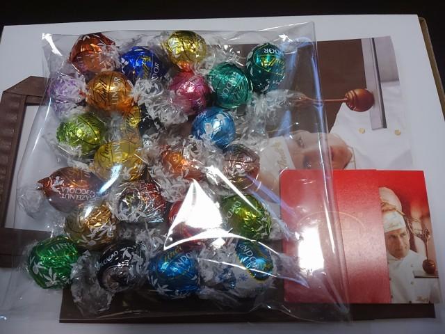★リンツ チョコ チョコレート リンドール ★ 詰め合わせ アソート 23種 23個入り 紙袋付き★送料無料★