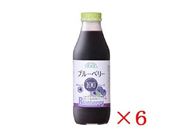 送料無料 6本セット 人気 順造選 ブルーベリー100 果汁100% ストレート 500ml