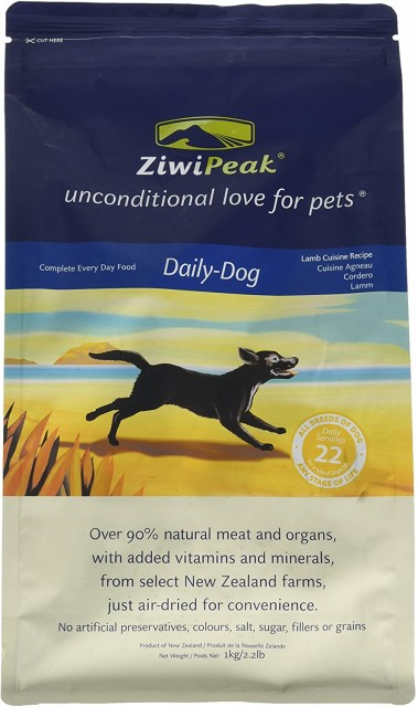 ZiwiPeak(ジウィピーク) デイリードッグ・クィジーン エア・ドライタイプ ラム 1kg 送料無料 即日発送