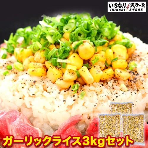 冷凍 いきなり!ガーリックライス スーパーメガ盛り1kg×3袋【いきなり!ステーキ ガーリックライス 肉 】【ギフト 内祝い 業務用】