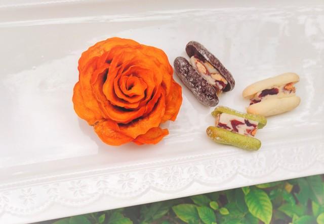 【微田水氣】オリジナル開発のドライフルーツフラワー(柿/無添加・無着色・無砂糖)