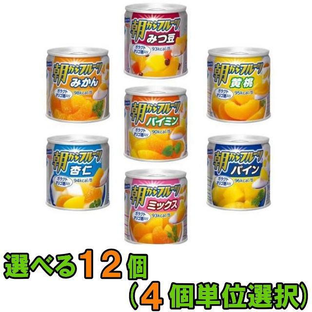 【送料無料(沖縄・離島除く)】はごろもフーズ 朝からフルーツ 190g お好み 12個