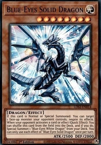 [緑文字] 遊戯王 LDS2-EN014 ブルーアイズ・ソリッド・ドラゴン Blue-Eyes Solid Dragon (英語版 1st Edition ウルトラレア) Legendary D