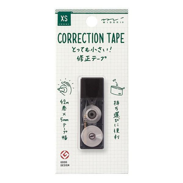ミドリ 修正テープ 小型 携帯 XS コンパクト 黒 ミニ文房具