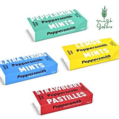 ミントタブレット 無添加 ペッパースミス Peppersmith 15g 購入金額別特典あり 正規品 オーガニック 100%植物ベース 自然食品 低GI 低カ