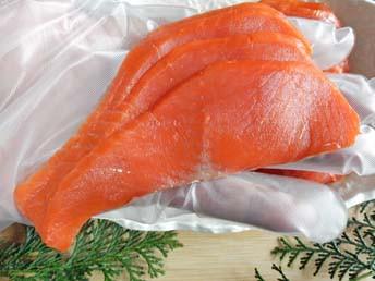 天然紅鮭スモークサーモン「スライス500g」