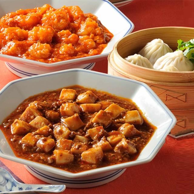 陳建一 中華3品セット 送料無料 麻婆豆腐 エビチリ 小籠包 中華