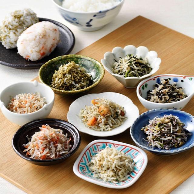 ちりめん八珍 ご飯のお供 ふりかけ 国産 梅 広島菜 穴子 アナゴ じゃこ 産直 お取り寄せ グルメ