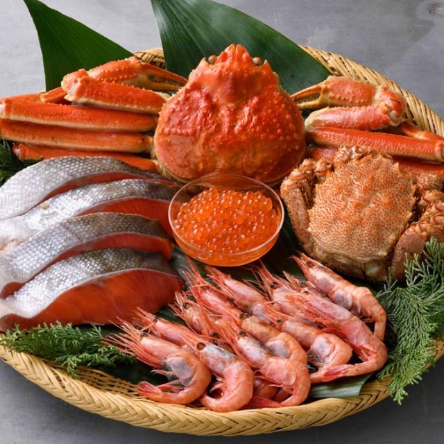 豪華海鮮三昧 5種セット ズワイガニ 毛蟹 甘エビ 塩紅さけ いくら ギフト 取り寄せ 通販 産直 グルメ