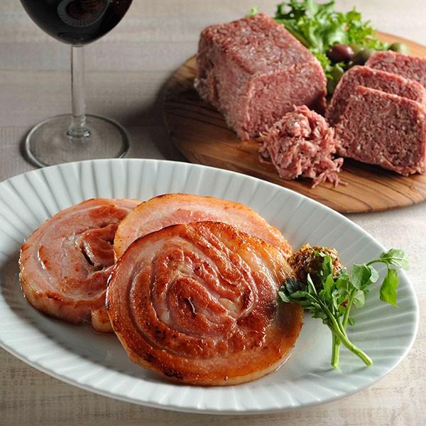 千駄木腰塚 人気詰合せ ベリーハム(豚バラ)&コンビーフのセット ご飯のお供 サンドイッチ 絶品 肉 ギフト お取り寄せ 産直
