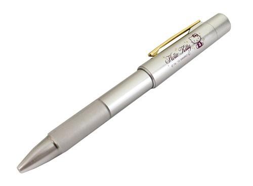 多機能ネームペン ハローキティ〜4F/1本で4役/黒ボールペン/赤ボールペン/シャープペン/印