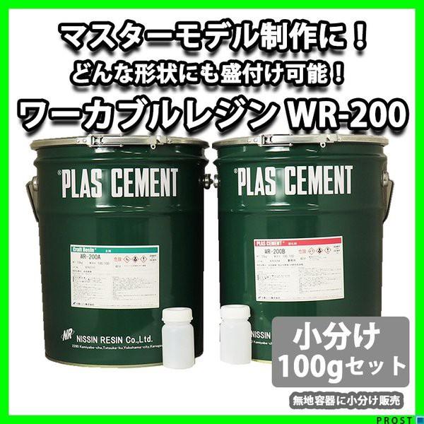 ワーカブルレジン WR-200 100gセット/造形用 補修 肉盛 エポキシ樹脂疑似木 ホビー用 木工 粘土 エポキシパテ 造形 小分け