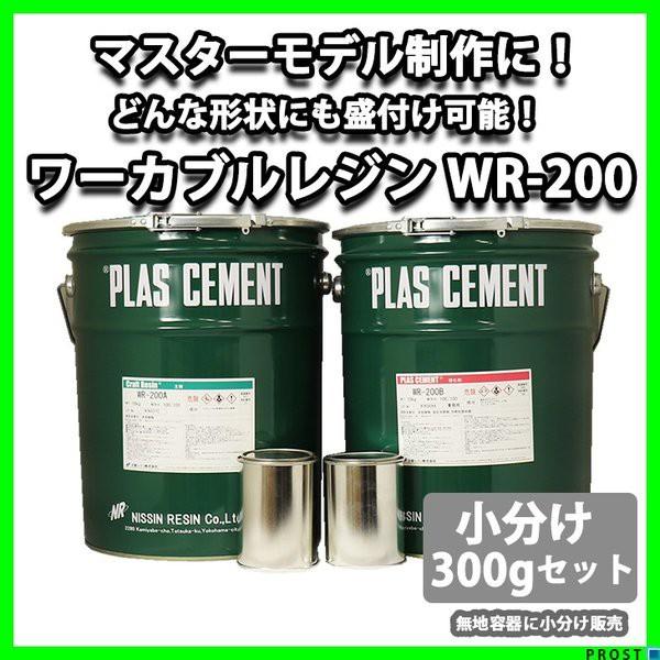 ワーカブルレジン WR-200 300gセット/造形用 補修 肉盛 エポキシ樹脂疑似木 ホビー用 木工 粘土 エポキシパテ 造形 小分け