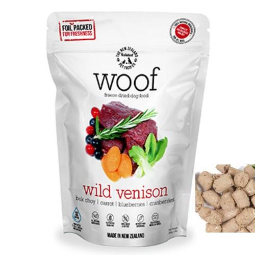 【NewZealand Natural PetFood】WOOF Venison フリーズドライドッグフード ワイルドベニソン280g(犬用総合栄養食)【RSL】