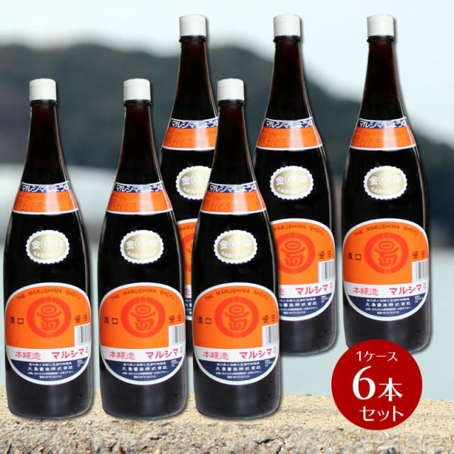 単品より5%OFF 丸島醤油 金印醤油 こいくち醤油(濃口)1.8L 6本セット(1ケース) 業務用 箱買い まとめ買い