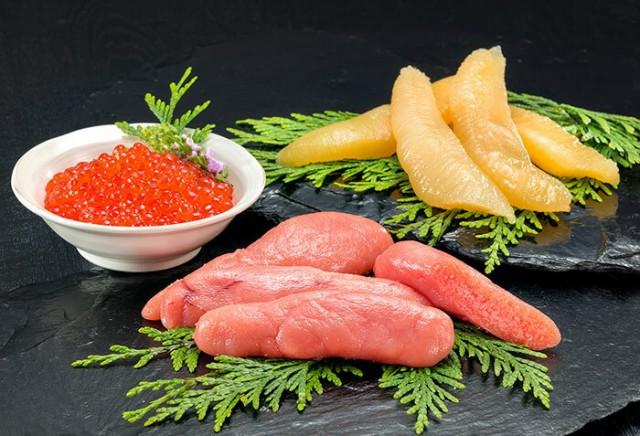 いくら 数の子 たらこ 豪華3種詰め合わせ 北海道産魚卵三昧 送料無料