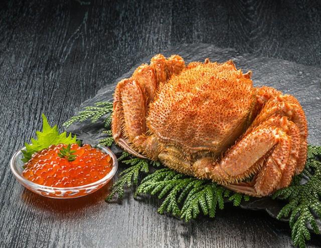 【毛がに(400g×1)・醤油漬けいくらセット(100g) 】 北海道産 送料無料 ギフト