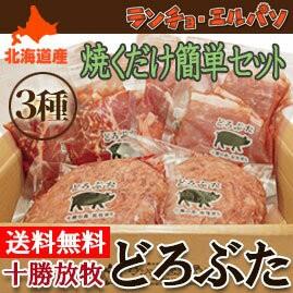 ジンギスカン 豚丼 ハンバーグ 詰め合わせ どろぶたグルメ 焼くだけお手軽セット 北海道 十勝 帯広 旅サラダ ランチョエルパソ 肉 贈り