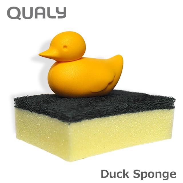 クオリー ダック スポンジ ホルダー / QUALY DUCK SPONGE HOLDER [スポンジホルダー スポンジ置き スポンジ入れ スポンジラック]