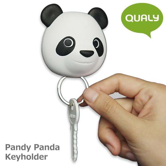 クオリー パンディー パンダ キーホルダー / QUALY Pandy Panda Key Holder [ キーホルダー レディース メンズ ペア 車 ブランド キーリ