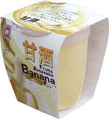 フルーツ 甘酒 バナナ ( ノンアルコール ) 180gカップ12個入り あま酒 送料無料 (条件つき)