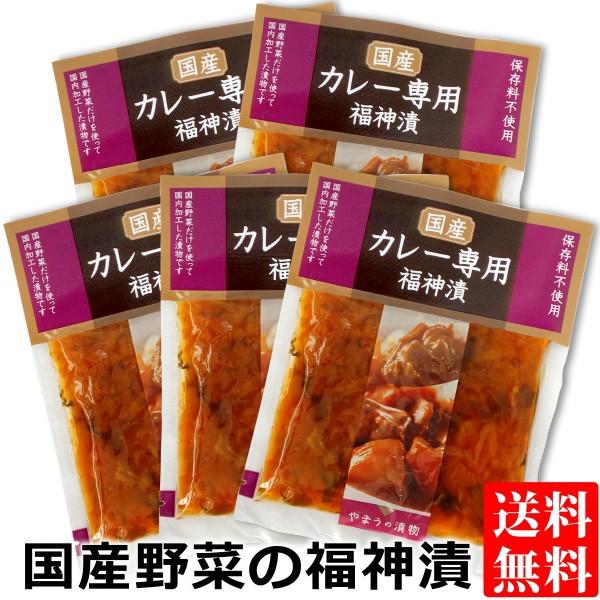 国産野菜のカレー専用 福神漬け 100g×5袋 送料無料 メール便