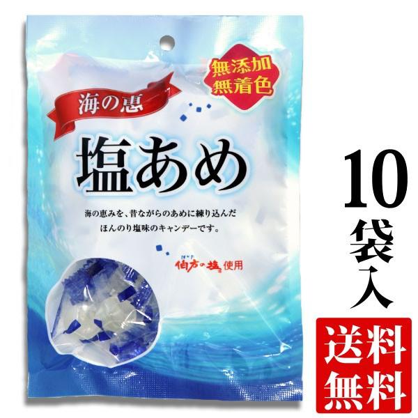 伯方の塩 使用 海の恵 塩あめ 100g袋入り×10 送料無料 ( 条件つき )