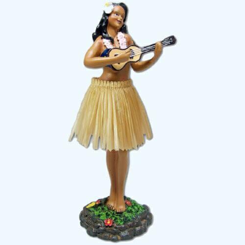 【フラドール】(フラガール/ウクレレ)/ハワイアン人形・フィギュア・おもちゃ/ダッシュボードフラドール/ハワイアン雑貨・お土産