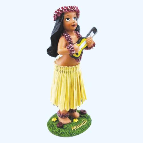 【フラドール】(ウクレレガール)ハワイアン人形 フィギュア おもちゃ ダッシュボードフラドール フラガール hula ハワイアン雑貨 お土