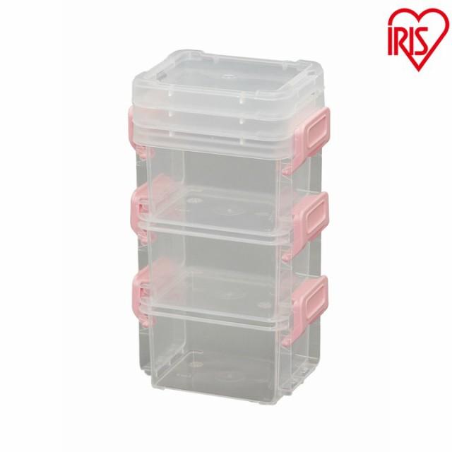 コンテナ ミニコンテナ LLB-S ピンク 箱 ハコ ふた付き バックル 蓋付き オシャレ コンテナ フタ付き おもちゃ箱 積み重ね 積重ね ボック