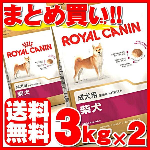 ロイヤルカナン 犬 ドッグフード 柴犬 成犬用 3kg×2個セット ドライ アダルト 犬種別 送料無料 正規品 BHN ペットフード いぬ イヌ rcdb