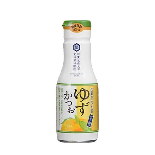 【送料無料】柴沼醤油 ポン酢ゆずかつお 200ml×8本 鮮度保持ボトル 創業330年以上の老舗醤油蔵