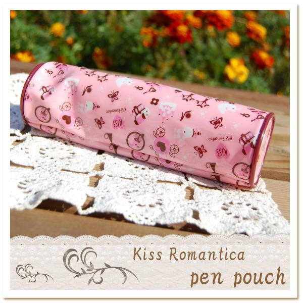 KISS Romantica ポーチ ペンポーチ ドラム型 ペンケース レディース かわいい ギフト プレゼント 女性 [メール便可]