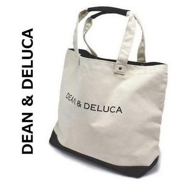 DEAN&DELUCA dean&deluca ディーン&デルーカ コットンキャンバス トートバッグ /バレンタインデー 収納力抜群で丈夫なバッグ 鞄