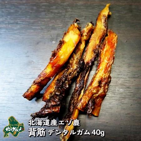 国産 北海道産 エゾ鹿 の 背骨デンタルガム40g/えぞ鹿肉/鹿肉/エゾシカ肉/ジビエ