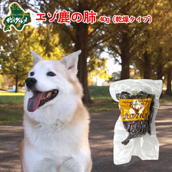 国産 北海道産 エゾ鹿 の 乾燥ラング40g/えぞ鹿肉/鹿肉/エゾシカ肉/ジビエ